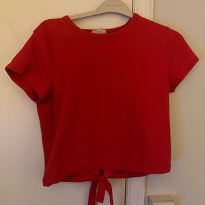 Madewell Red Open Back TShirt